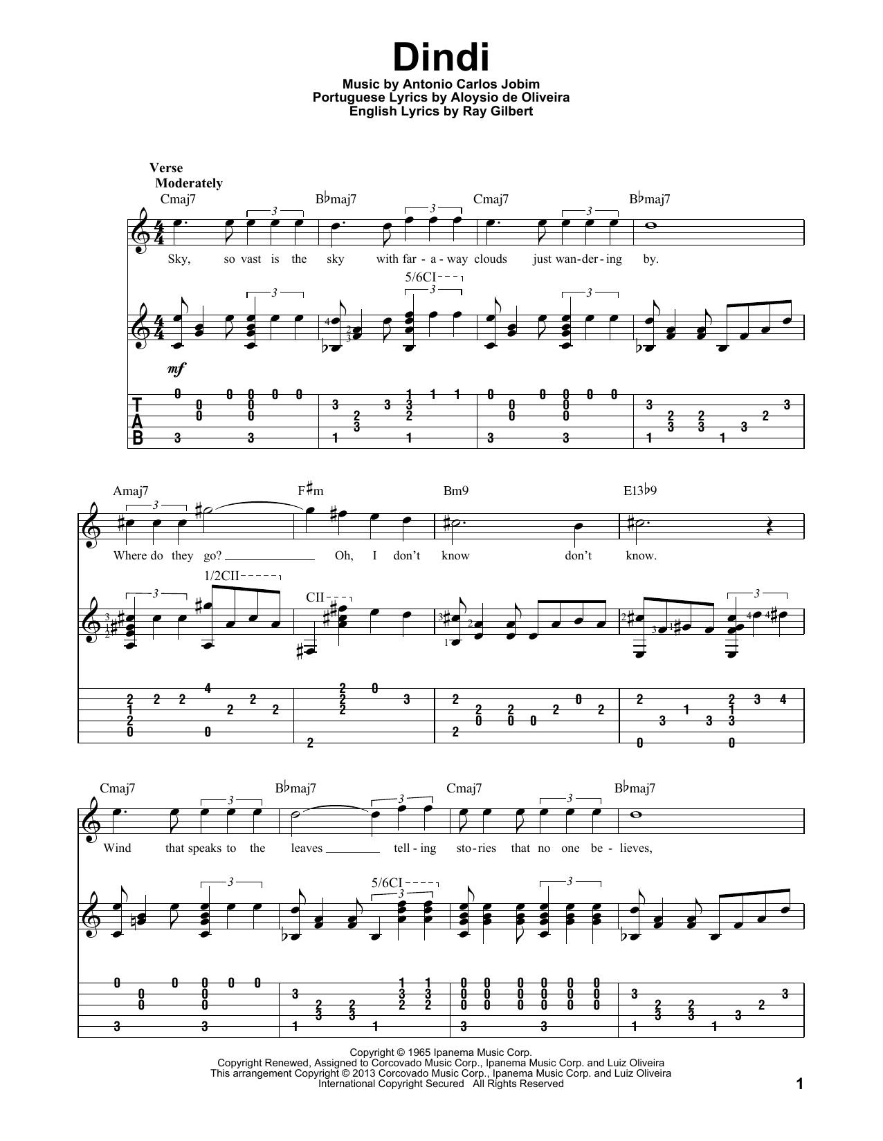 Dindi (Solo Guitar Tab)