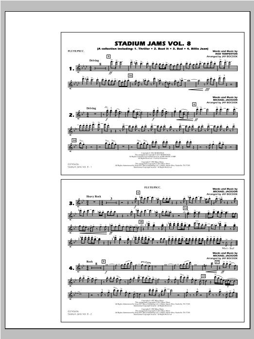Stadium Jams Volume 8 (Michael Jackson) - Flute/Piccolo (Marching Band)