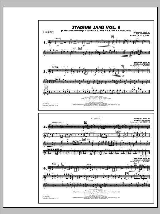 Stadium Jams Volume 8 (Michael Jackson) - Bb Clarinet Sheet Music