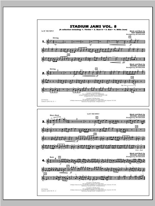 Stadium Jams Volume 8 (Michael Jackson) - 1st Bb Trumpet Sheet Music