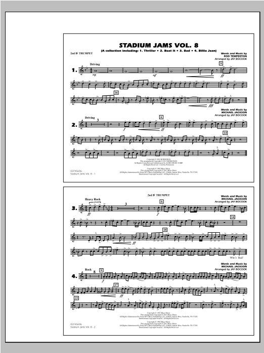 Stadium Jams Volume 8 (Michael Jackson) - 2nd Bb Trumpet (Marching Band)