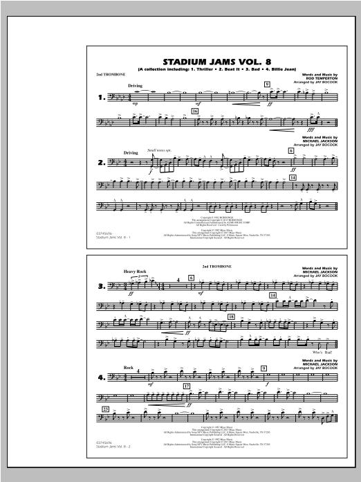 Stadium Jams Volume 8 (Michael Jackson) - 2nd Trombone (Marching Band)