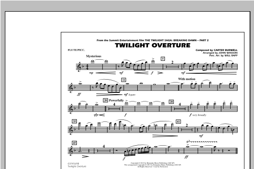 Twilight Overture - Flute/Piccolo Sheet Music