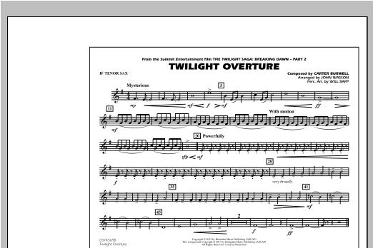 Twilight Overture - Bb Tenor Sax Sheet Music