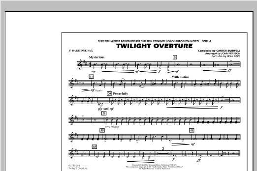 Twilight Overture - Eb Baritone Sax Sheet Music