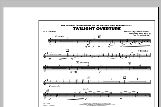 Twilight Overture - 1st Bb Trumpet Digitale Noten