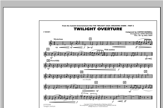 Twilight Overture - F Horn Digitale Noten