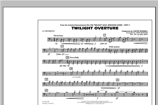 Twilight Overture - 1st Trombone Sheet Music