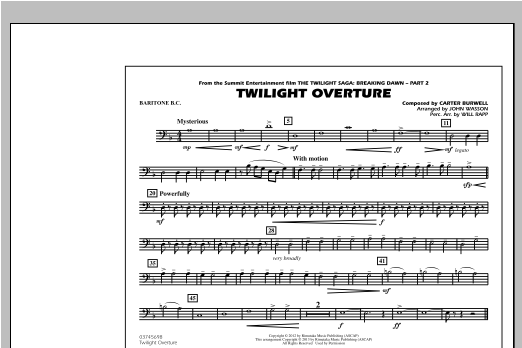 Twilight Overture - Baritone B.C. Sheet Music