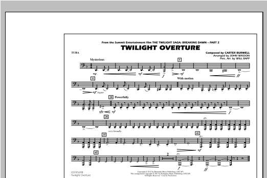 Twilight Overture - Tuba Sheet Music