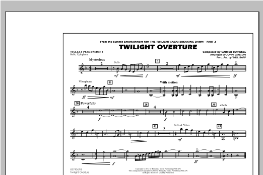 Twilight Overture - Mallet Percussion 1 Sheet Music