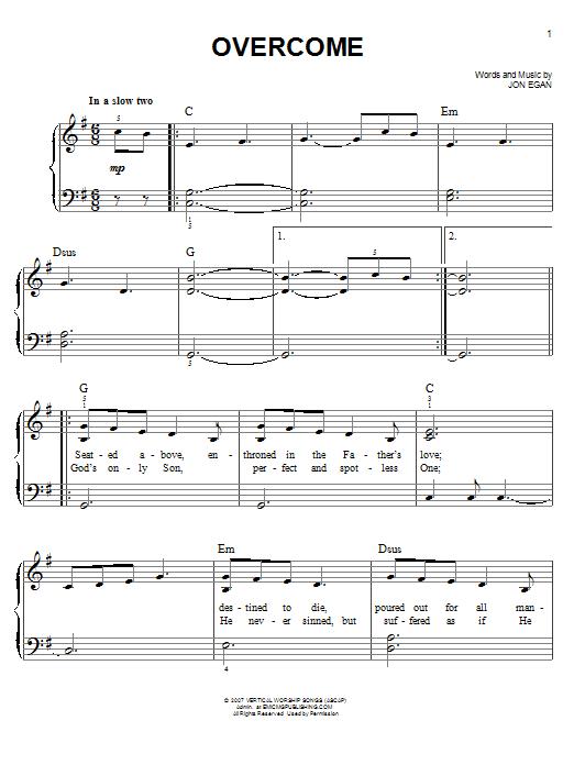 Overcome (Easy Piano)