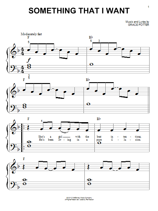 Something That I Want Sheet Music