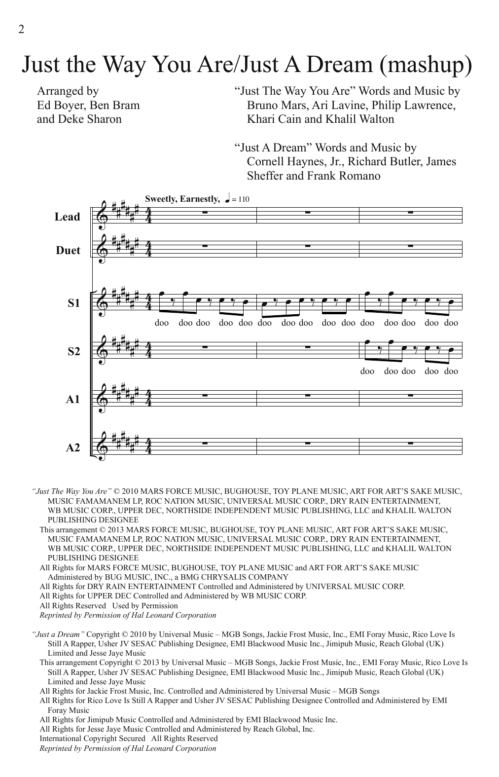 just a dream piano sheet music pdf