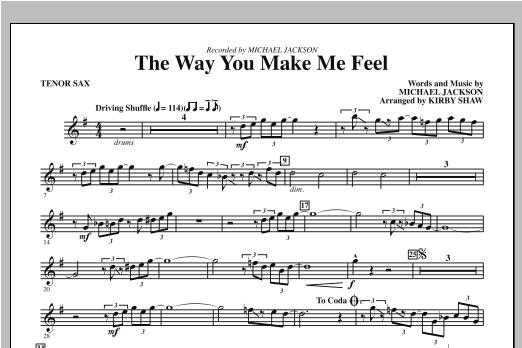 The Way You Make Me Feel - Bb Tenor Saxophone Sheet Music