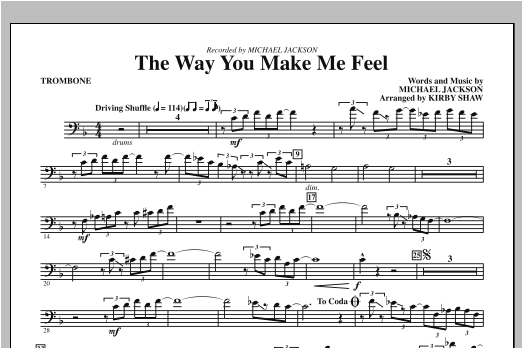 The Way You Make Me Feel - Trombone (Choir Instrumental Pak)
