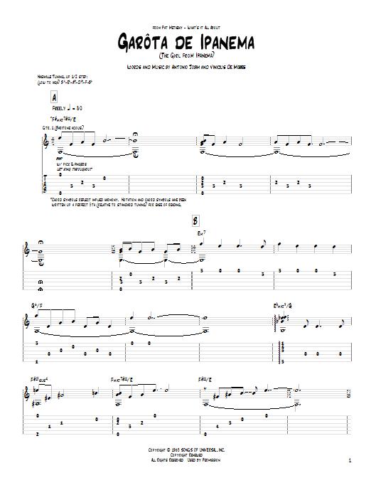Garota De Ipanema Sheet Music