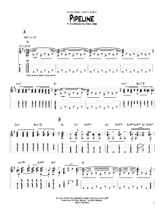 Pipeline (Guitar Tab)