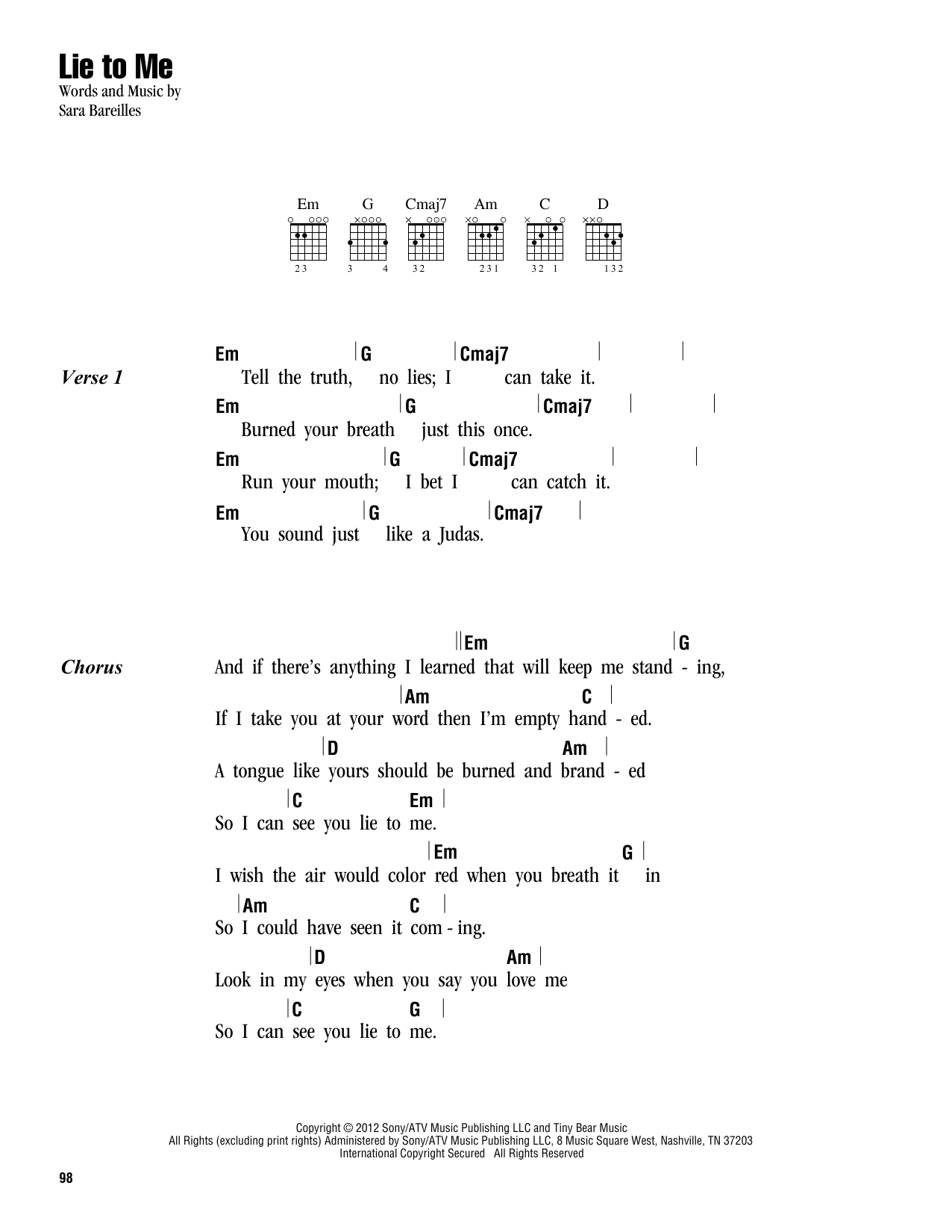 page one of Lie To MeASALTTEXT