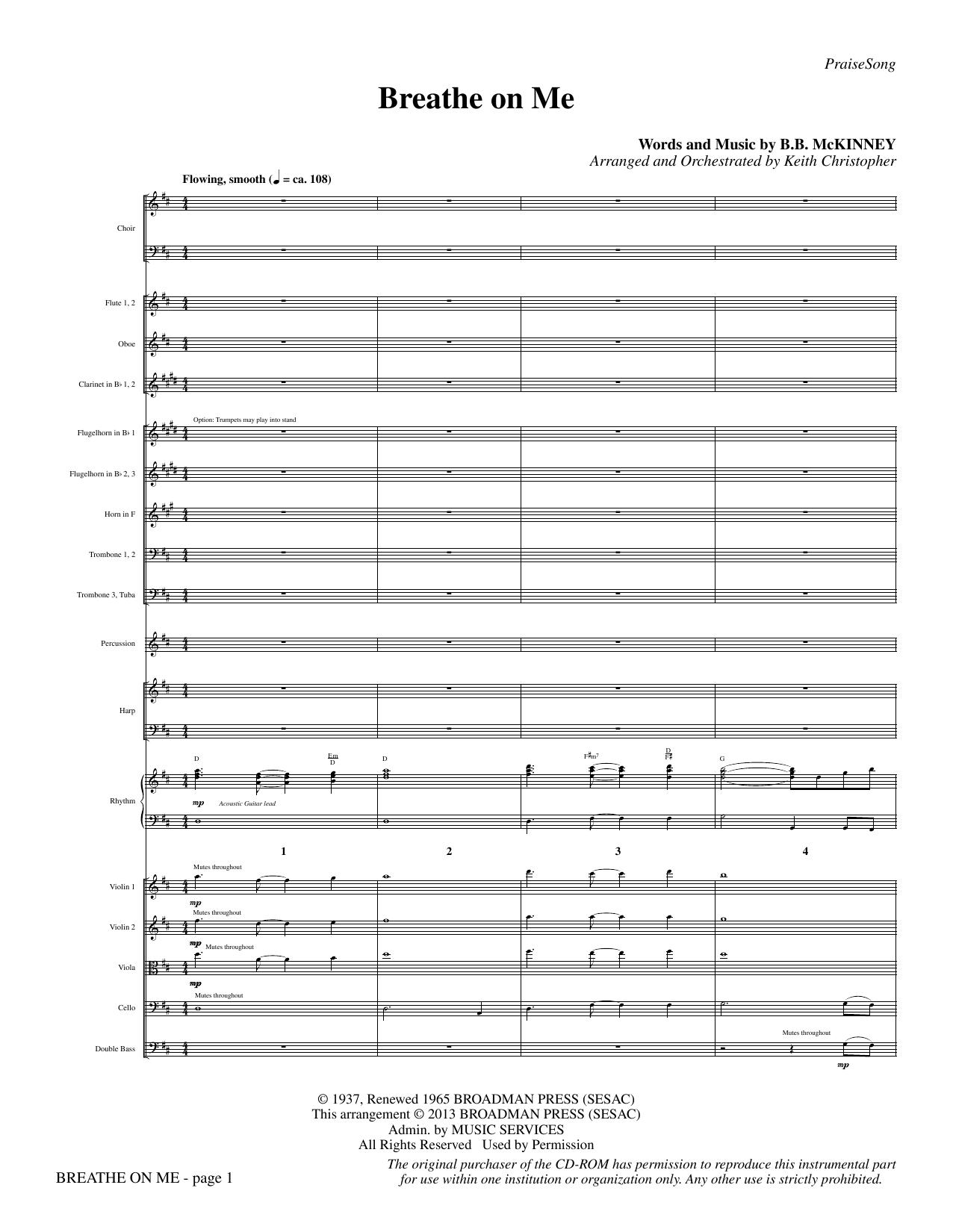 Breathe on Me - Full Score Sheet Music