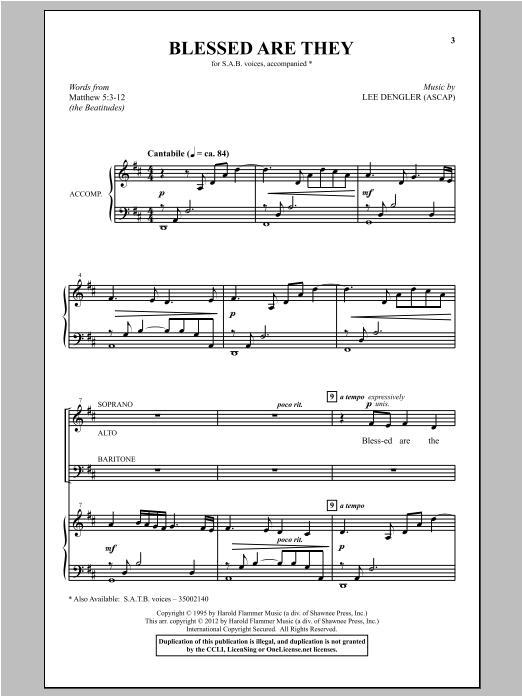 Blessed Are They Sheet Music