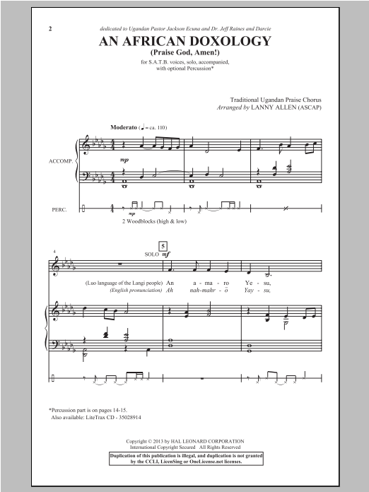 An African Doxology Sheet Music