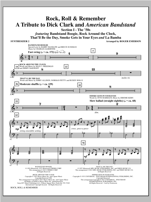 Rock, Roll & Remember - Synthesizer II Sheet Music