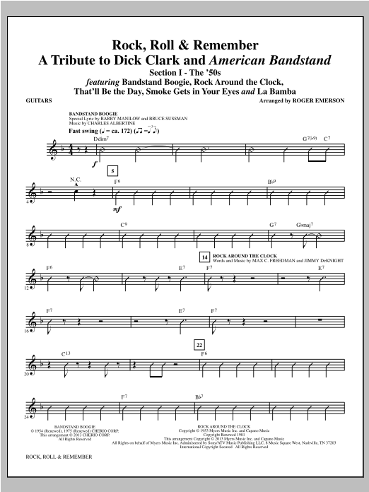 Rock, Roll & Remember - Guitar (Choir Instrumental Pak)