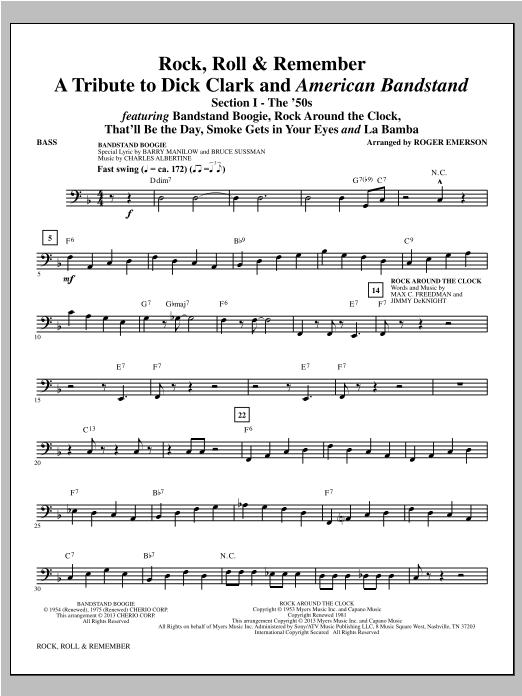 Rock, Roll & Remember - Bass Sheet Music