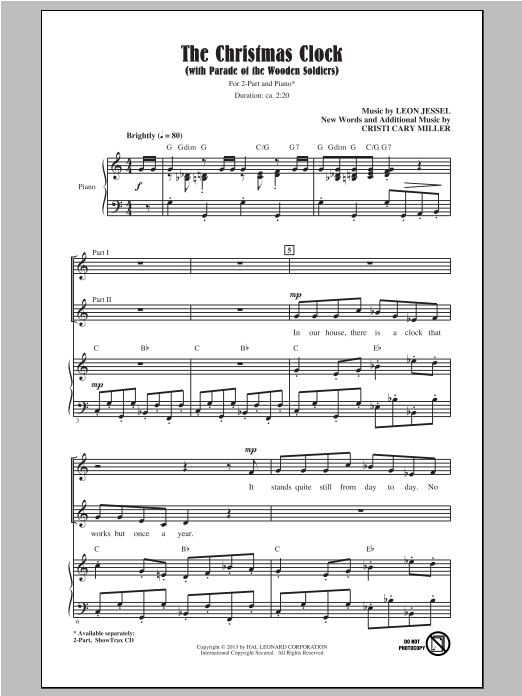 Parade Of The Wooden Soldiers (arr. Cristi Cary Miller) Sheet Music