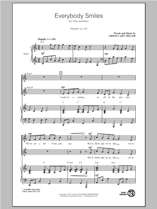 Everybody Smiles Sheet Music