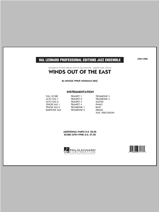 Winds Out Of The East - Conductor Score (Full Score) Sheet Music