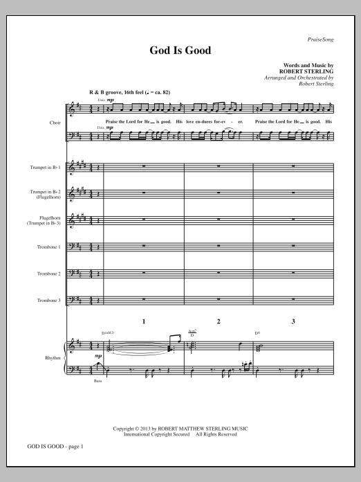 God Is Good - Full Score (Choir Instrumental Pak)