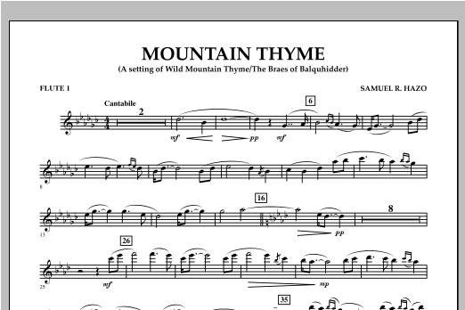 Mountain Thyme - Flute 1 Sheet Music