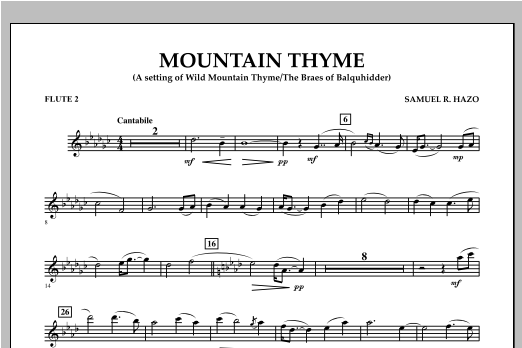 Mountain Thyme - Flute 2 Sheet Music
