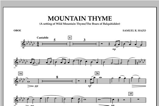 Mountain Thyme - Oboe Sheet Music