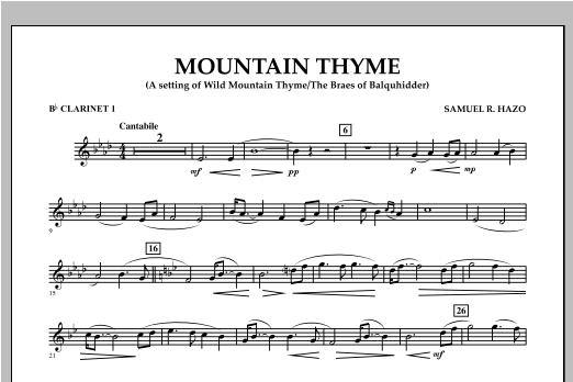 Mountain Thyme - Bb Clarinet 1 Sheet Music