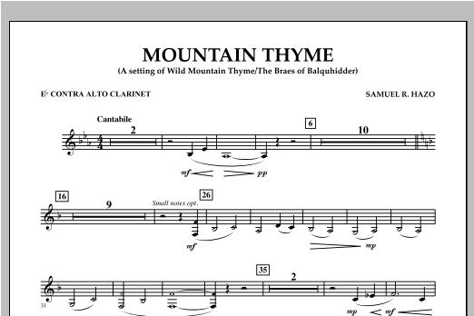 Mountain Thyme - Eb Contra Alto Clarinet Sheet Music