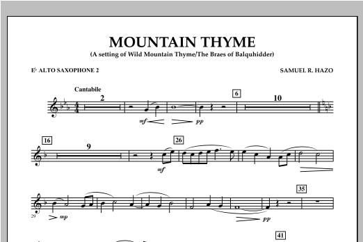 Mountain Thyme - Eb Alto Saxophone 2 Sheet Music