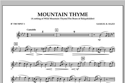 Mountain Thyme - Bb Trumpet 1 Sheet Music