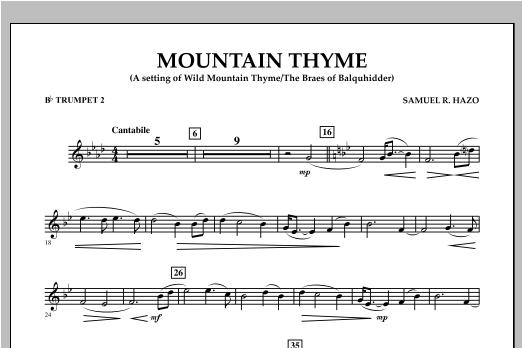 Mountain Thyme - Bb Trumpet 2 Sheet Music