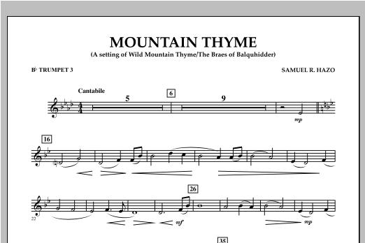 Mountain Thyme - Bb Trumpet 3 Sheet Music