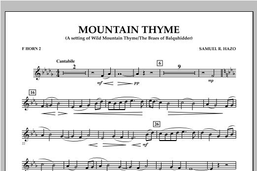 Mountain Thyme - F Horn 2 Sheet Music