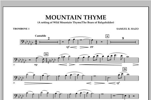 Mountain Thyme - Trombone 1 Sheet Music