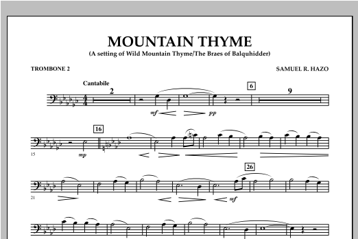 Mountain Thyme - Trombone 2 Sheet Music