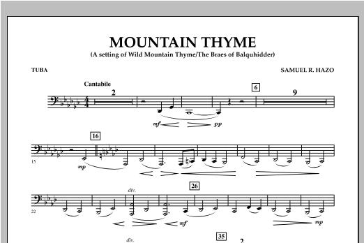 Mountain Thyme - Tuba Sheet Music