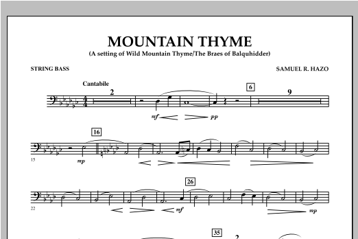Mountain Thyme - String Bass Sheet Music