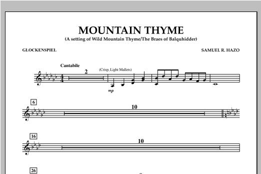 Mountain Thyme - Glockenspiel Sheet Music