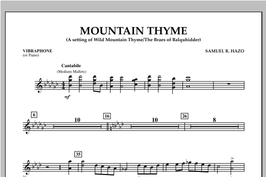 Mountain Thyme - Vibes (Piano) Sheet Music