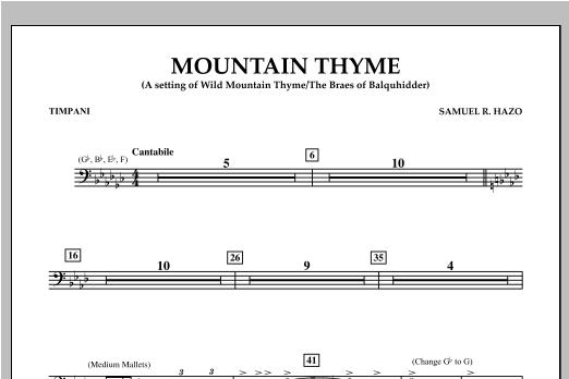 Mountain Thyme - Timpani Sheet Music